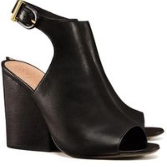 4a8cd5d1c7348 New Tory Burch 100mm open toe booties black